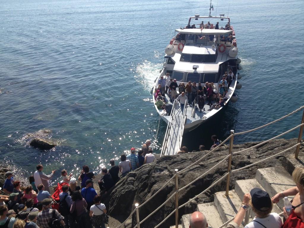 Ferry boat in Riomaggiore, Cinque Terre
