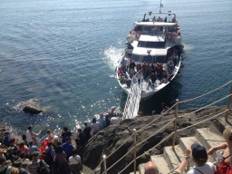 Peak-season schedule for Cinque Terre + Portovenere ferries