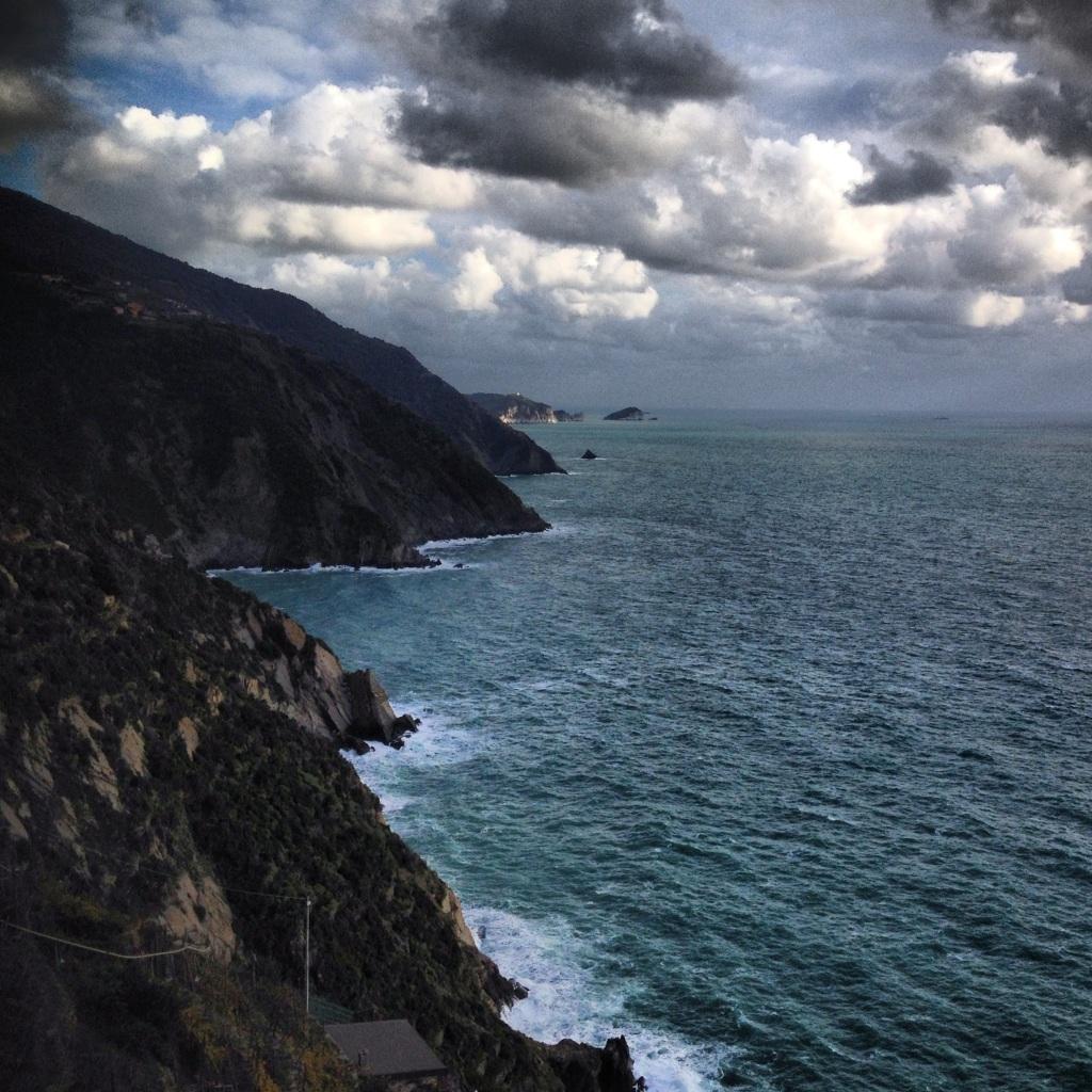 Rough seas, cloudy skies in Cinque Terre