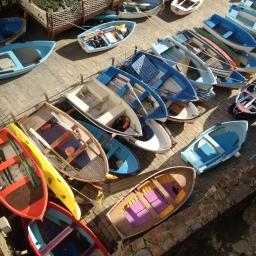 Boats in Riomaggiore's marina