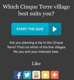 Where to stay in the Cinque Terre?  Take my quiz to find out!