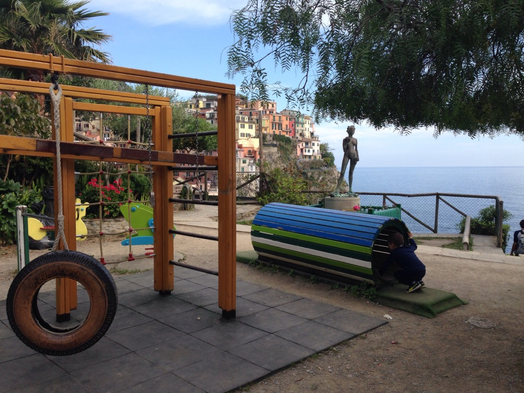 Manarola's playground at Punta Bonfiglio offers fabulous views