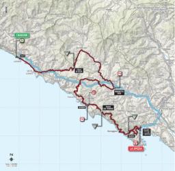 The Giro d'Italia in the Cinque Terre