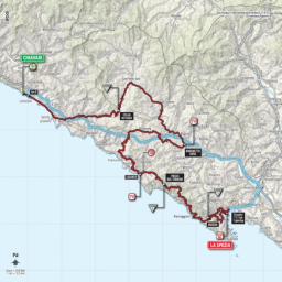 The Giro d'Italia in the Cinque Terre