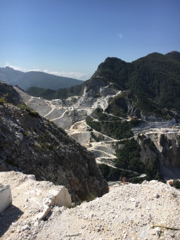 Day trip from Cinque Terre:  Carrara marble quarries