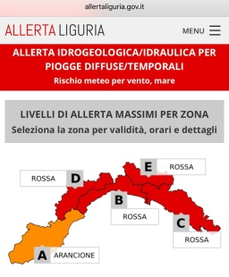 Cinque Terre back on alert: Highest level storm warning for October 29, 2018