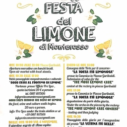 Monterosso's Lemon Festival will be held June 1st